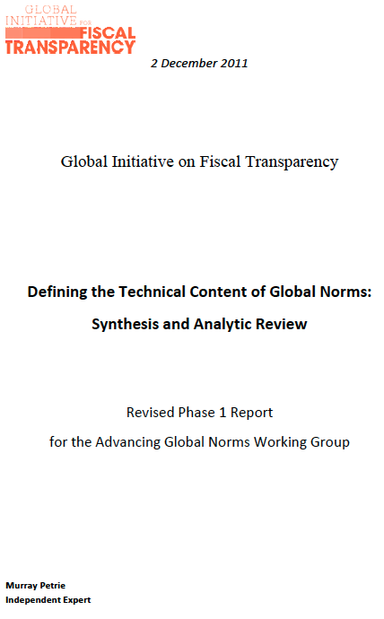 Defining the Technical Content of Global Norms: Synthesis and Analytic Review