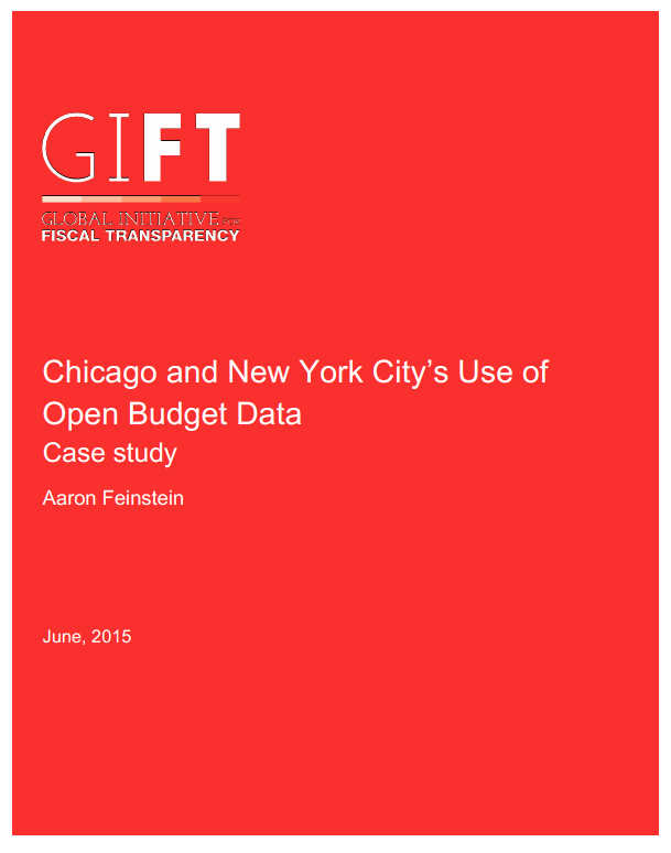 Chicago and New York City's: Use of Open Budget Data. Case study