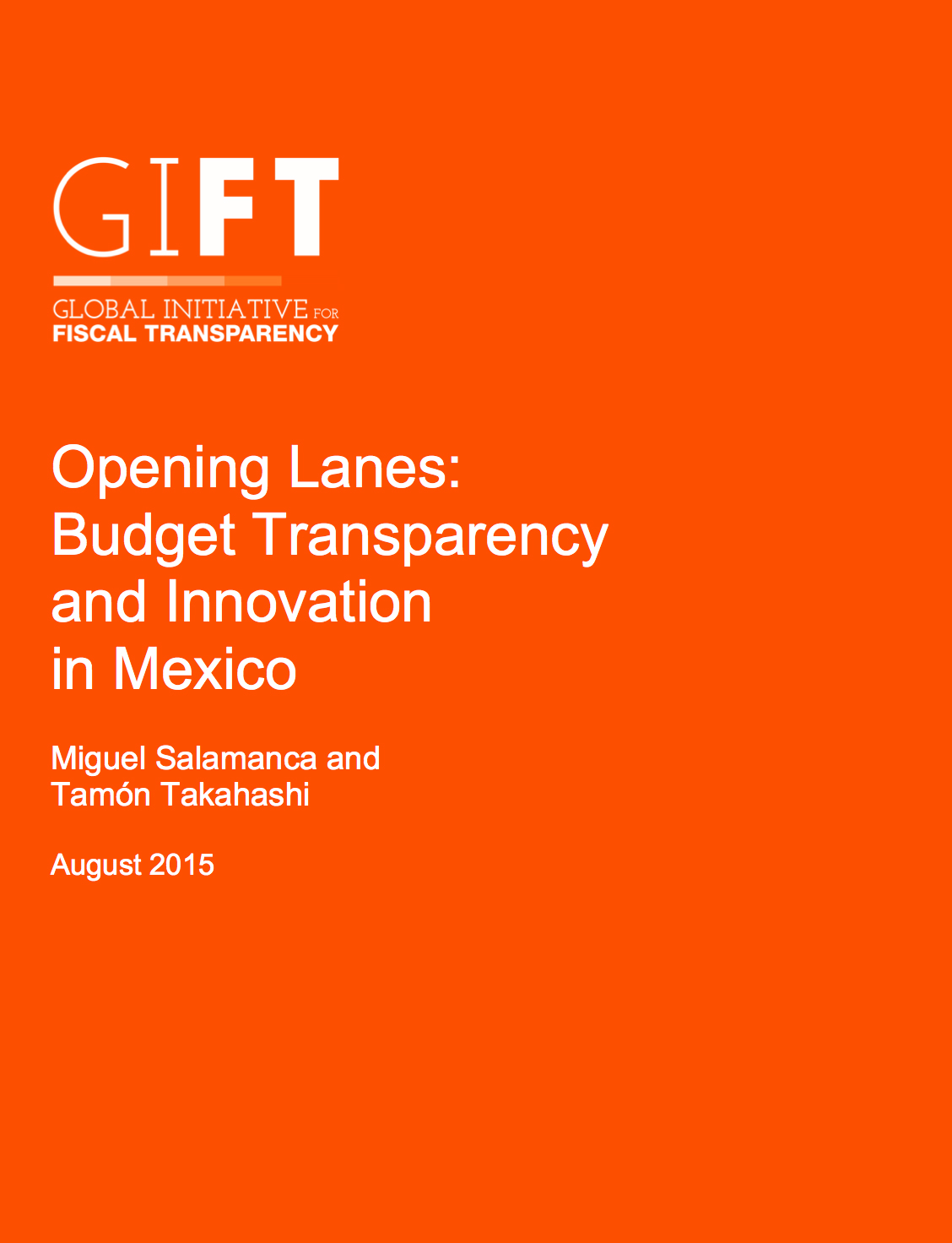 Opening Lanes: Budget Transparency and Innovation in Mexico