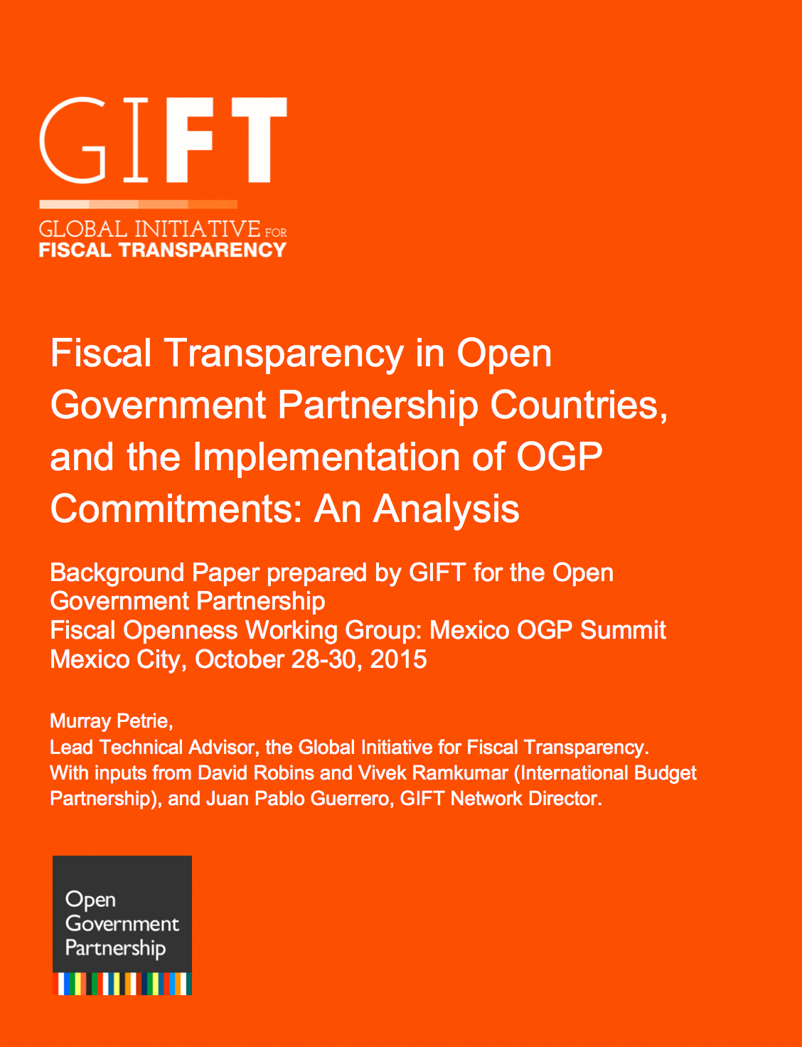 Fiscal Transparency in Open Government Partnership Countries, and the Implementation of OGP Commitments: An Analysis