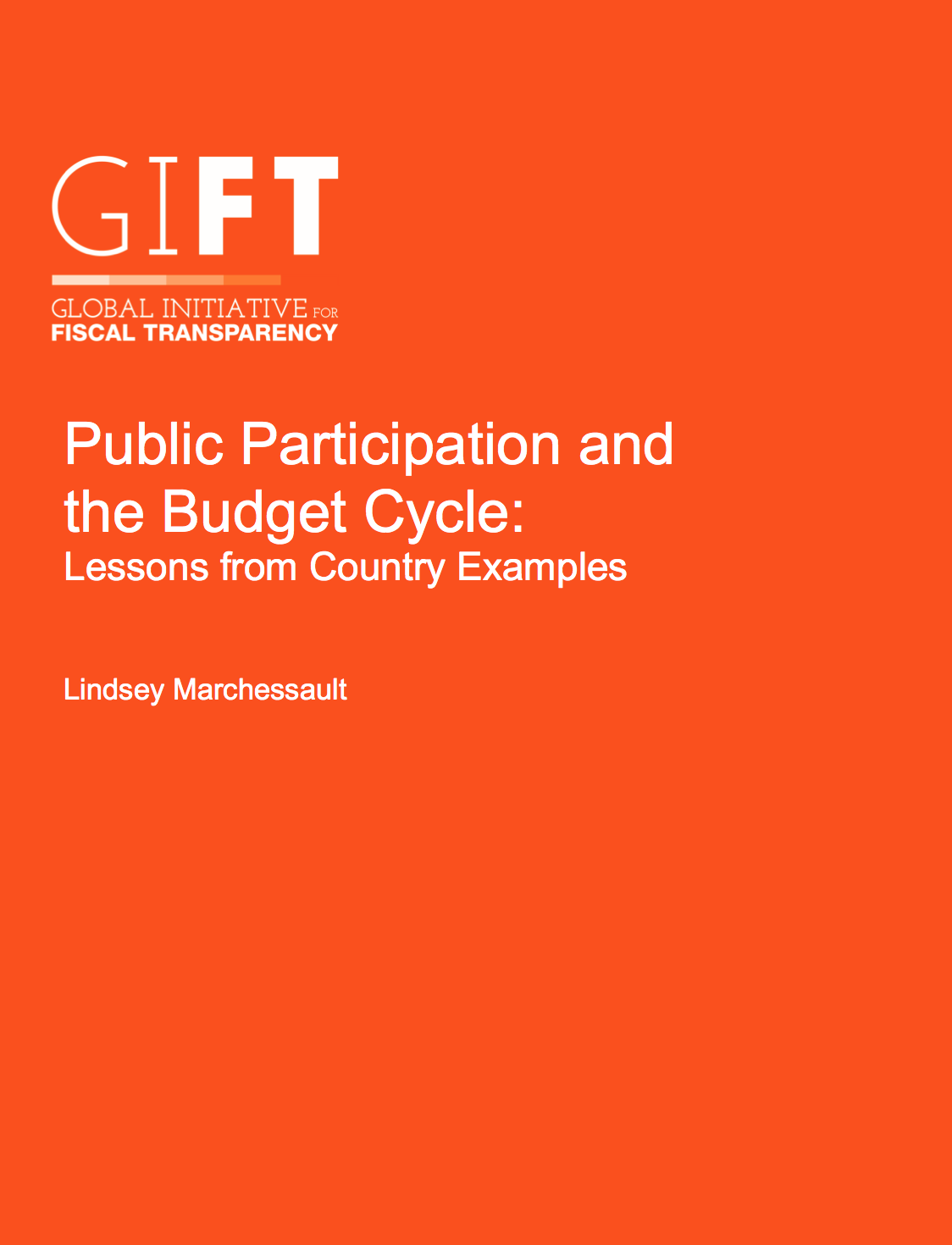 Public Participation and the Budget Cycle: Lessons from Country Examples