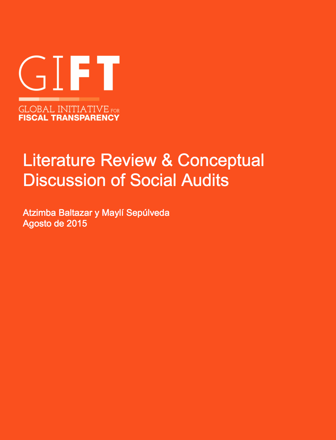 Literature Review & Conceptual Discussion of Social Audits